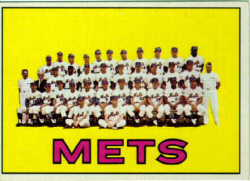 1967 Topps New York Mets Team Card - Nolan Ryan's 1ST CARD