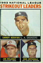 1964 Topps National League Strikeout Leaders
