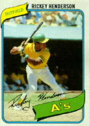 1980 Rickey Henderson Rookie Card